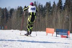 Silna atleta uczestniczy w rywalizaci filiżanka obrazy stock