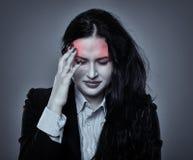 silna bizneswoman migrena Fotografia Royalty Free