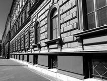 Silna perspektywa Klasyczna budynek elewacja obrazy stock