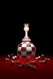 Silna postać szachy metafora ilustracja 3 d, f Zdjęcia Stock