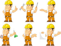 Silna pracownik budowlany maskotka 2 Obrazy Stock