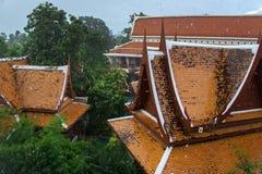 Silna tropikalna ulewa w Tajlandia obrazy royalty free