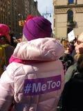 Silne kobiety, Ja Zbyt Hashtag, kobiety ` s Marzec, -MeToo, NYC, NY, usa Zdjęcia Royalty Free