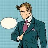 Silnego mężczyzna biznesmena lider ilustracja wektor
