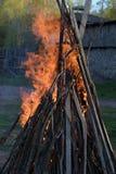 Silni ogieni płomienie Fotografia Stock