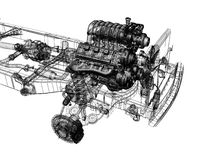 silnik Royalty Ilustracja