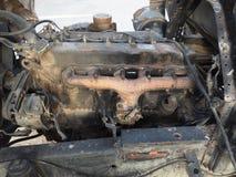 silnik diesla zasilająca ciężarówka Obrazy Royalty Free