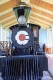 Silnik -7, parowa lokomotywa na pokazie przy plaży muzeum, Jacksonville, Floryda, 2015 Zdjęcie Royalty Free
