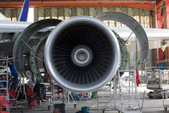 silnik samolotu otwarte Zdjęcie Stock