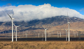 Silnik Wiatrowy gospodarstwo rolne w Kalifornia Obrazy Stock
