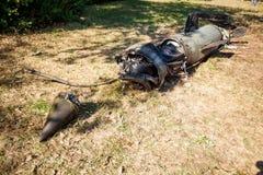 Silnik z elektronicznym farszem i przednią częścią uszkadzający pocisk balistyczny, wojenny konflikt, Ukraina i Donbass po tym ja obraz royalty free