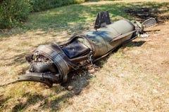Silnik z elektronicznym farszem powalony pocisk balistyczny, wojenny konflikt, Ukraina i Donbass zdjęcie royalty free