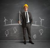 Silnika wiatrowego energetyczny projekt Obrazy Stock