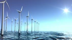 Silnika wiatrowego gospodarstwo rolne w morzu