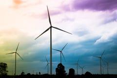 Silnika Wiatrowego gospodarstwo rolne, Wiatrowej energii pojęcie Obraz Royalty Free