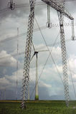 Silnika wiatrowego park Obraz Royalty Free