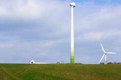 Silnika wiatrowego utrzymanie Fotografia Royalty Free