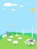 Silniki wiatrowi i środowisko Royalty Ilustracja