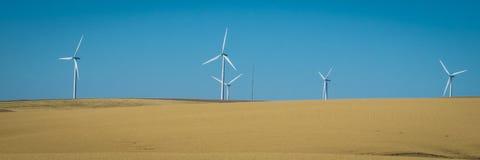 Silniki wiatrowi, pszeniczni pola, stan washington obraz stock