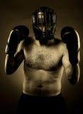 Silny agresywny bokser Fotografia Stock