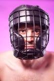 Silny agresywny bokser Obrazy Royalty Free