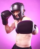 Silny agresywny bokser Obraz Stock