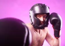 Silny agresywny bokser Zdjęcia Stock