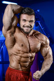 Silny bodybuilder mężczyzna Obraz Royalty Free