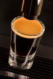 Silny dwoisty kawy espresso kawy strzał Zdjęcia Royalty Free