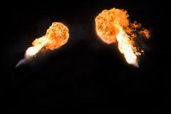 Silny płomień, istna fotografia Zdjęcia Royalty Free