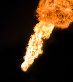 Silny płomień, istna fotografia Obraz Stock