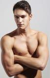 Silny przystojny sprawność fizyczna sportów mężczyzna Obrazy Stock
