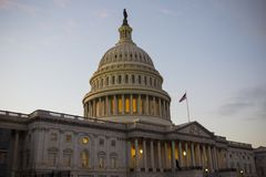Silny Stany Zjednoczone Capitol budynek, USA kongres, washington dc, usa fotografia royalty free