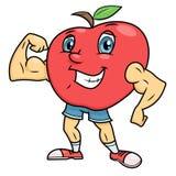 Silny uśmiechnięty jabłko Zdjęcia Royalty Free
