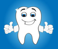 Silny uśmiechnięty ząb Zdjęcie Royalty Free