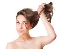 Silny zdrowy włosy Obrazy Stock