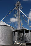 Silo. Grain silo facility on the outskirts of town Royalty Free Stock Photo