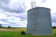 Silo. A grains silo on a farm Royalty Free Stock Photo