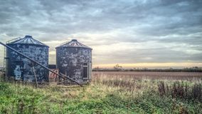 Silo abbandonato abbandonato Fotografia Stock