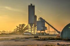 Silo al tramonto Immagine Stock