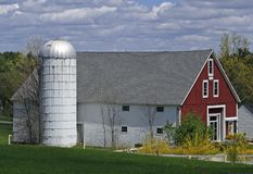 Silo and Barn Stock Photography
