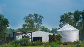 Silo and Barn Royalty Free Stock Images