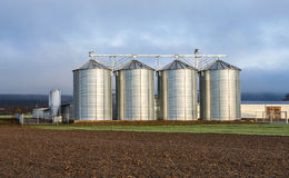 Silo in beautiful landscape Stock Photo