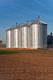 Silo in beautiful landscape in sun Stock Photography