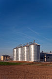 Silo in beautiful landscape in sun Stock Image
