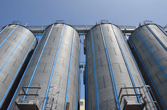 Silo with blue sky Royalty Free Stock Photo