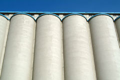 Silo of cereals Stock Photo