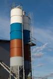 Silo coloré par deux image libre de droits