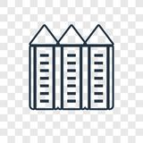 Silo concept vector linear icon isolated on transparent backgrou royalty free illustration
