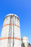Silo in the countryside. Japan Stock Images